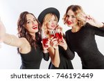 close up self portrait of three ... | Shutterstock . vector #746192449