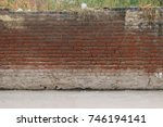 background wall with bricks... | Shutterstock . vector #746194141