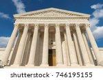 united states supreme court... | Shutterstock . vector #746195155