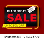 black friday sale labels with... | Shutterstock .eps vector #746195779