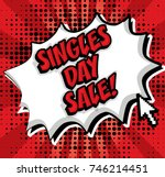 chinese singles day sale. pop... | Shutterstock .eps vector #746214451