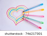 Colorful Heart Drawing With...