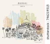 chhatrapati shivaji maharaj... | Shutterstock .eps vector #746219515