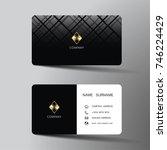 modern business card template...   Shutterstock .eps vector #746224429
