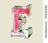crayon alphabet  hand drawn... | Shutterstock .eps vector #74622583