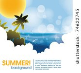 summer holiday web and print... | Shutterstock .eps vector #74622745