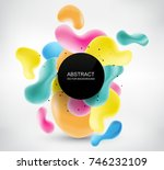 modern background with abstract ... | Shutterstock .eps vector #746232109
