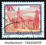 austria   circa 1988  a stamp... | Shutterstock . vector #746236939