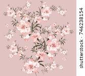 flower watercolor composition 1 | Shutterstock . vector #746238154
