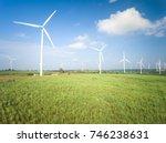 aerial view of wind turbine ....   Shutterstock . vector #746238631