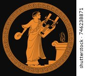 ancient greek god of marriage... | Shutterstock .eps vector #746238871