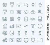 line filter funnel icons....   Shutterstock .eps vector #746241697
