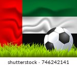 united arab emirates flag and... | Shutterstock .eps vector #746242141