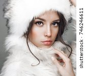 fashion studio portrait of... | Shutterstock . vector #746246611