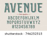decorative vector vintage retro ... | Shutterstock .eps vector #746252515