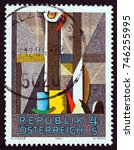 austria   circa 1984  a stamp... | Shutterstock . vector #746255995