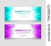 abstract banner template design.... | Shutterstock .eps vector #746260075