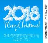 vector cloud sky merry... | Shutterstock .eps vector #746267509