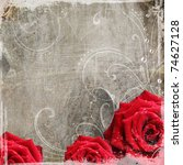 Old Decorative Background With...