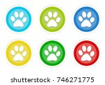 set of rounded colorful buttons ... | Shutterstock . vector #746271775