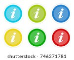set of rounded colorful buttons ... | Shutterstock . vector #746271781