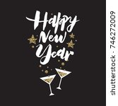 vector illustration. happy new... | Shutterstock .eps vector #746272009