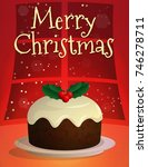 festive christmas and new year... | Shutterstock .eps vector #746278711