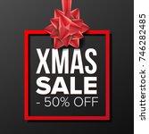 christmas sale banner vector.... | Shutterstock .eps vector #746282485