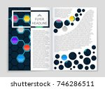 abstract vector layout... | Shutterstock .eps vector #746286511
