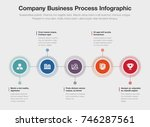 vector infographic company... | Shutterstock .eps vector #746287561