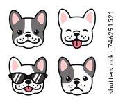 french bulldog hand drawn...   Shutterstock .eps vector #746291521