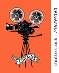 movie camera | Shutterstock . vector #746294161