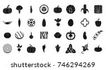 vegetables icon set. simple set ... | Shutterstock .eps vector #746294269