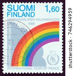 finland   circa 1986  a stamp... | Shutterstock . vector #746294959