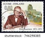 finland   circa 1973  a stamp... | Shutterstock . vector #746298385