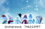 merry christmas and happy new... | Shutterstock . vector #746313997