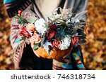 Autumn Floral Bouquet In A...