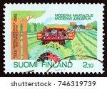 finland   circa 1992  a stamp... | Shutterstock . vector #746319739