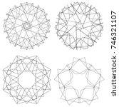festive geometric set stars and ... | Shutterstock .eps vector #746321107