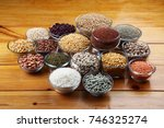 beans pulses lentils rice and... | Shutterstock . vector #746325274