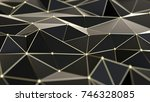 abstract low polygonal... | Shutterstock . vector #746328085
