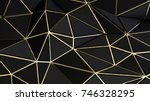 abstract low polygonal... | Shutterstock . vector #746328295