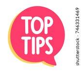 top tips. vector icon  badge... | Shutterstock .eps vector #746331469