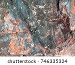 stone background of mottled... | Shutterstock . vector #746335324