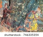 stone background of mottled... | Shutterstock . vector #746335354