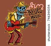 Funny Skeleton Playing Guitar...