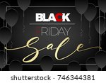 advertising poster black friday.... | Shutterstock .eps vector #746344381