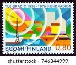 finland   circa 1976  a stamp... | Shutterstock . vector #746344999