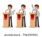 set of businessman in shirt... | Shutterstock .eps vector #746350501