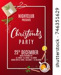 invitation poster to christmas... | Shutterstock .eps vector #746351629